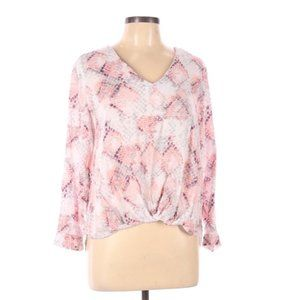 Cynthia Rowley printed low high blouse LARGE